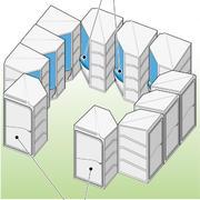 Мобильные туалетные кабины «Два в одном»